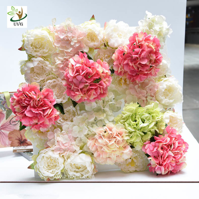 China UVG wonderful silk rose wall weddings with fake penoy flowers for wedding Décor CHR1143 supplier
