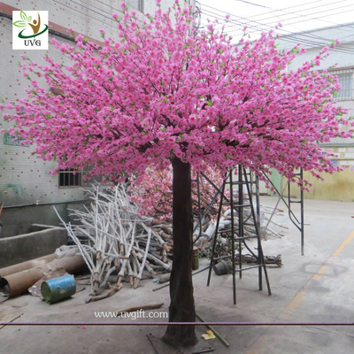 China UVG 10 foot pink peach blossom artificial trees indoor for cheap wedding decorations CHR160 supplier