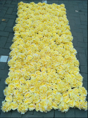China UVG wedding decoration wholesale gridding artificial flower wall for stage backdrop decoration CHR1147 supplier