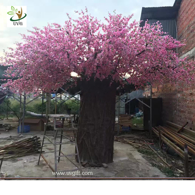 China UVG huge fake cherry blossom trees in fiberglass trunk for photography backdrop decoration CHR162 supplier