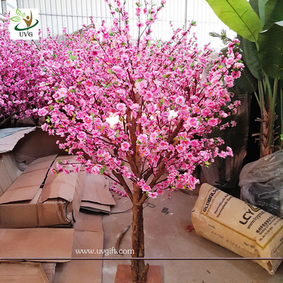 China UVG Dongguang manufactory make pink landscape artificial peach blossom trees for emporium decoration CHR152 supplier