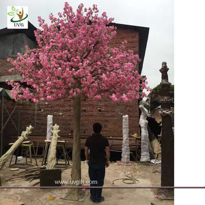 China UVG wedding party favors fake cherry tree with silk cherry blossom flowers for church decorations CHR165 supplier