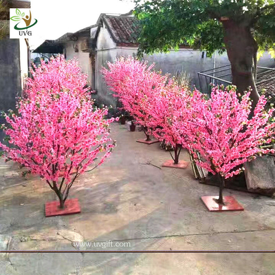 China UVG small artificial peach blossom wooden tree wedding reception decorations selling products CHR166 supplier