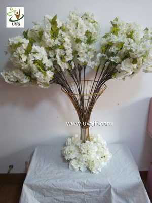 China UVG Tree branches for centerpieces with white artificial cherry blossom indoor wedding use CHR091 supplier