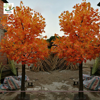 China UVG garden ornament autumn fake dwarf maple tree for interior decoration 12ft high GRE071 supplier