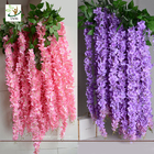 China UVG Indoor cheap fake flowers with wisteria branches for church wedding decoration WIS006 factory