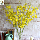 China UVG Yellow decorative orchids plastic artificial flower factory for home garden decoration factory