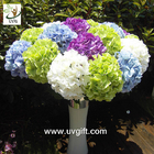China UVG FHY21 Flower artificial wedding bouquets silk hydrangea for wedding stage decoration factory