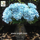China UVG Blue 7 heads artificial cheap hydrangea fabric flowers wedding decoration centerpieces factory