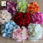 Good Quality Artificial flower backdrop wall & UVG FBL01 white artificial flower heads in silk hydrangeas for wedding backdrop decoration on sale