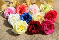 China UVG FBL02 silk roses artificial flower head for wedding flower wall backdrop use factory