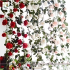 China UVG CHR148 Factory direct sales floral arrangements rose flower artificial vine for home furnishing decoration factory