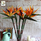 China UVG FBP112 party decoration idea artificial flowers uk in orange bird of paradise for home garden landscaping factory