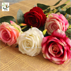 China UVG FRS68 Planning a wedding in beautiful velvet rose artificial flower arrangements for table decoration factory