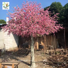 China UVG silk peach flowers artificial blossom trees with high sumulation trunk for themed weddings CHR156 factory
