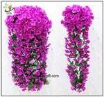 China UVG artificial flowers wholesale hanging silk violet wreath for wedding flower arrangements WIS017 factory