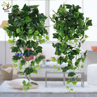 China UVG interior decoration 1 meter green hanging faux ivy with plastic vine leaves for sale CHP01 factory