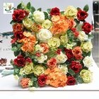 China UVG romantic rose artificial floral wall for photography backdrop art studio backgroudn decoration CHR1143 factory