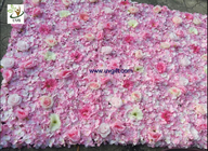 China UVG pink hydrangea wedding flower wall for stage background decoration CHR1148 company