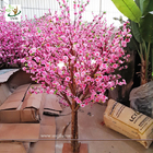 China UVG Dongguang manufactory make pink landscape artificial peach blossom trees for emporium decoration CHR152 factory