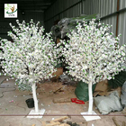 China UVG white and pink small fake peach blossom centerpieces table trees for wedding hall decoration CHR169 factory