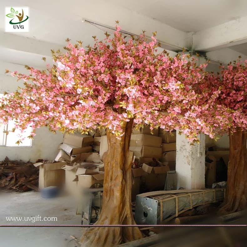 Uvg Chr013 Artificial Tree With Flower Big Pink Sakura Trees For Home Garden Decoration