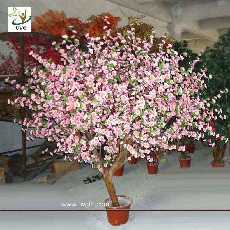 Uvg Chr041 Pink Cherry Blossom Wooden Tree Decoration