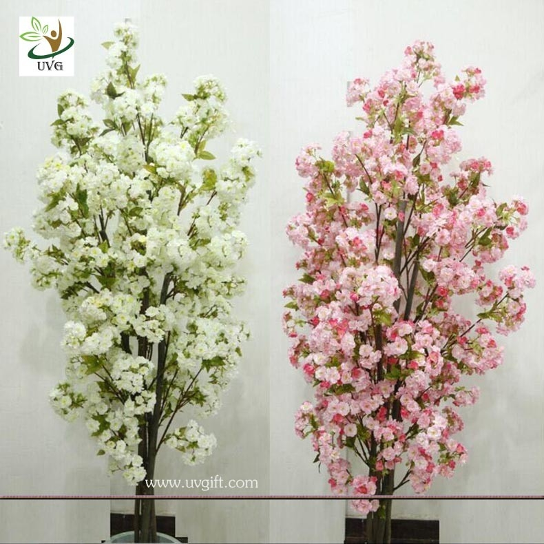 Uvg chr artificial white cherry blossom trees small