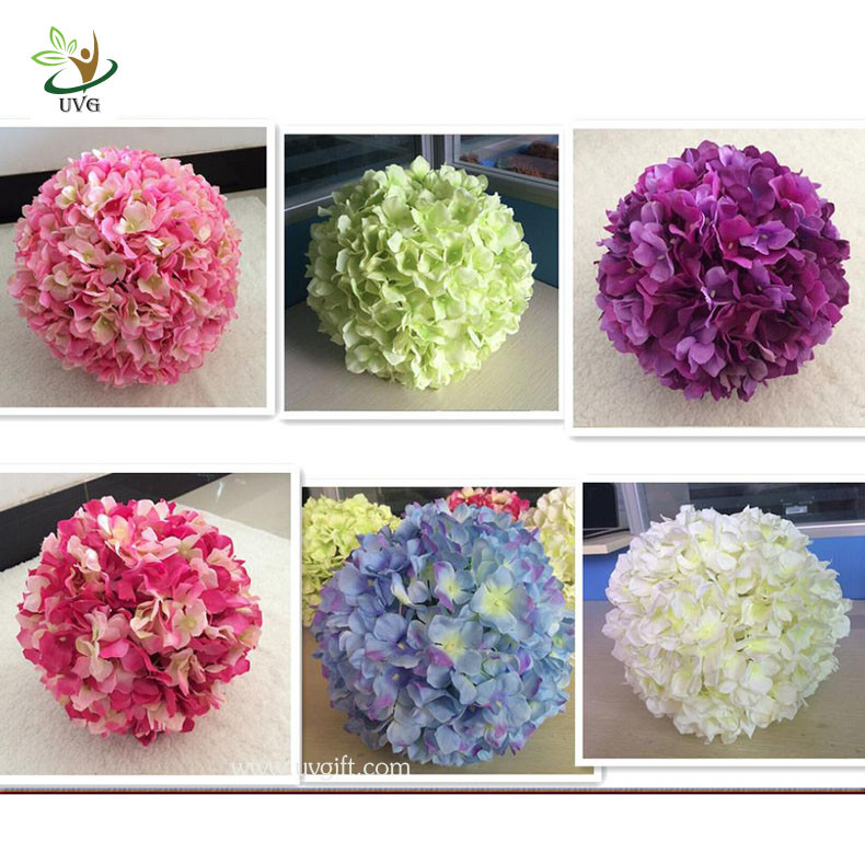 Uvg fhy01 40cm artificial flower ball with silk hydrangea and rose uvg fhy01 40cm artificial flower ball with silk hydrangea and rose for wedding decoration junglespirit Gallery