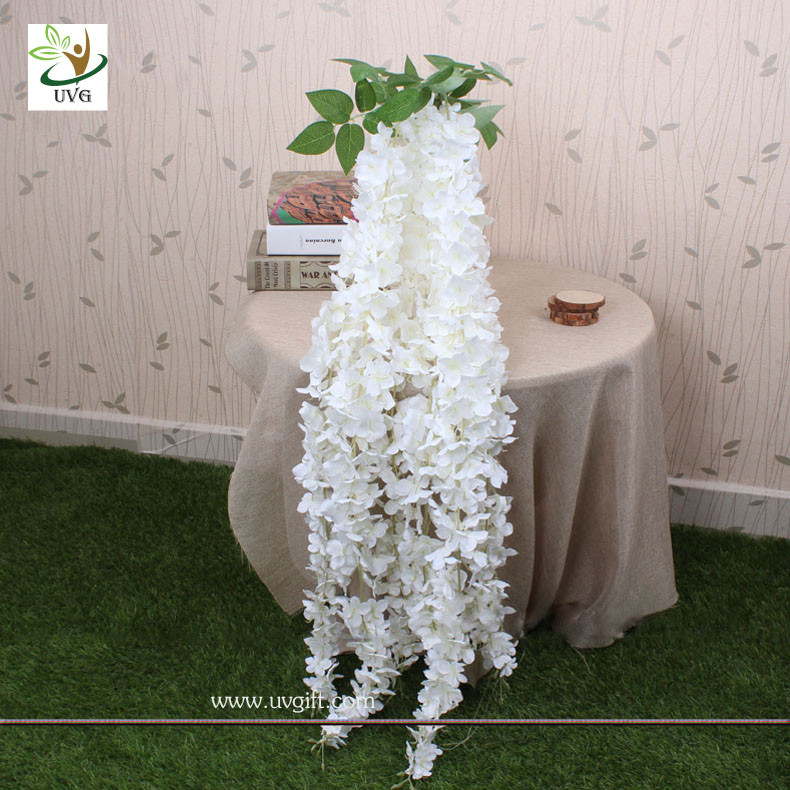 Uvg artificial flower making hanging wisteria flowers manufacturer china uvg artificial flower making hanging wisteria flowers manufacturer wedding decoration supplier junglespirit Gallery