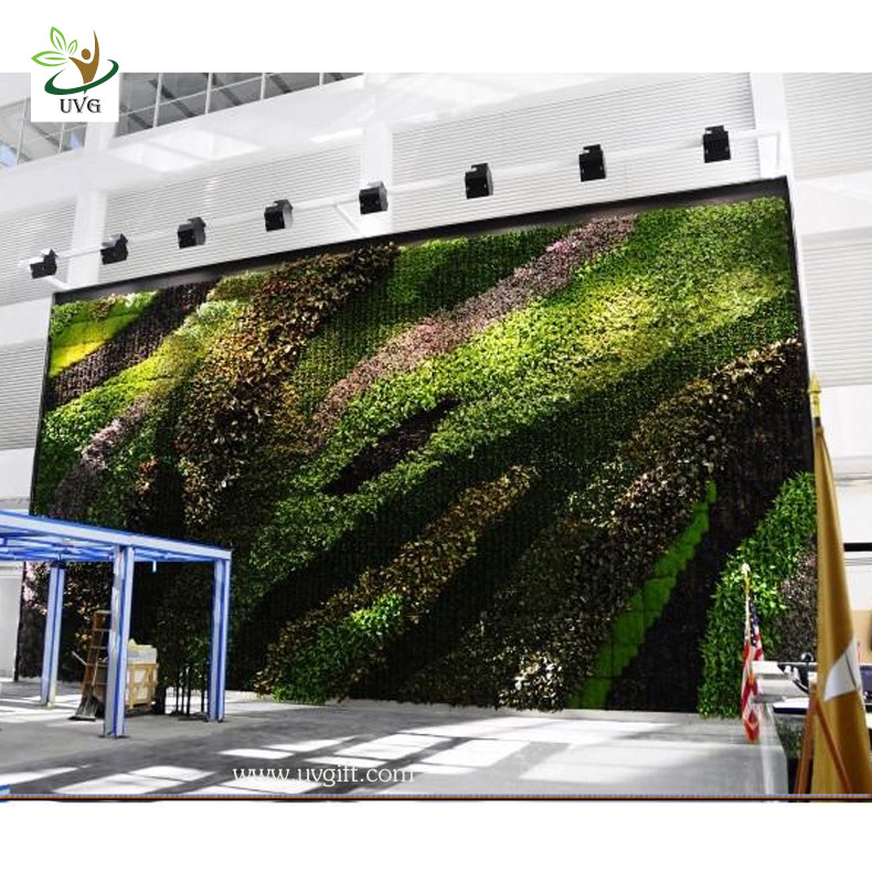 decorative plants for office. China UVG Indoor And Outdoor Decorative Living Plants Walls Vertical Garden Wall Office Decor Supplier For