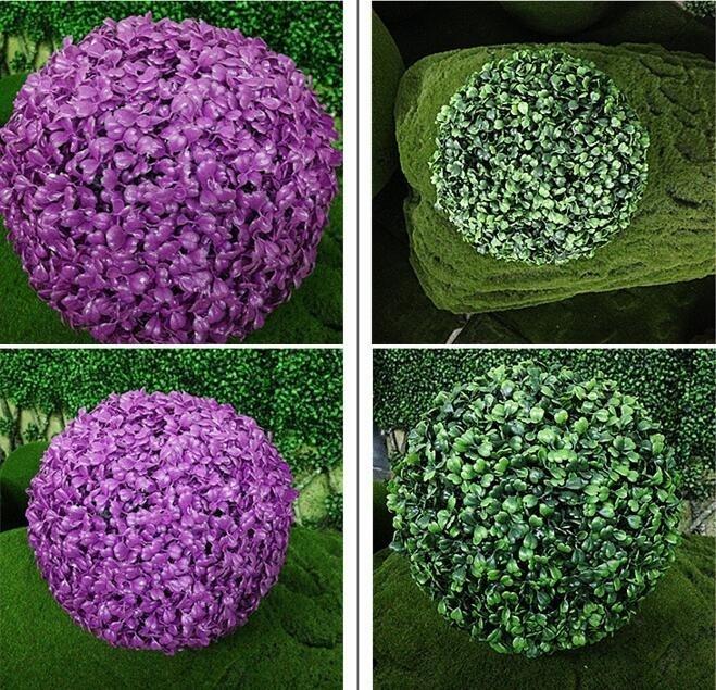 Decorative Boxwood Balls Mesmerizing Uvg Gr002 Purple Artificial Plants Topiary Plastic Boxwood Balls Design Ideas