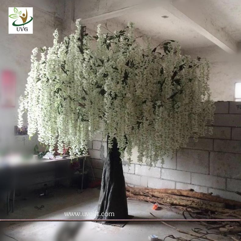 Uvg 10ft white indoor artificial wisteria tree with silk blossoms china uvg 10ft white indoor artificial wisteria tree with silk blossoms for wedding decoration supplier mightylinksfo