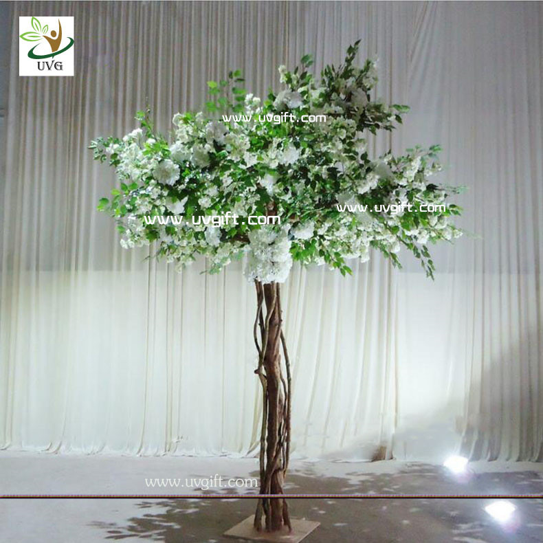 Uvg floor standing artificial cherry blossom wedding for Artificial trees for decoration