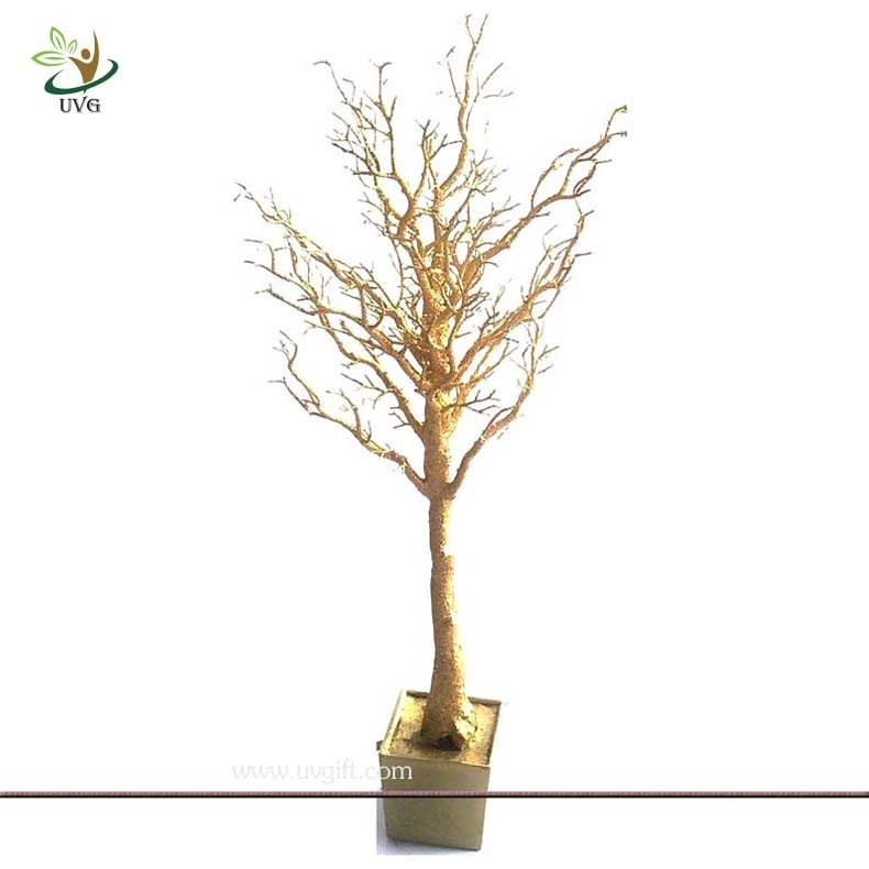 Astonishing Uvg Dtr06 Pe Plastic Dry Tree Gold Branches For Centerpieces Home Interior And Landscaping Ferensignezvosmurscom