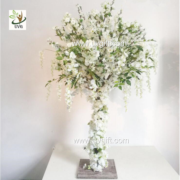 China UVG 4ft Tall Wedding Centerpieces For Tables Wisteria And Cherry  Blossom Artificial Supplier