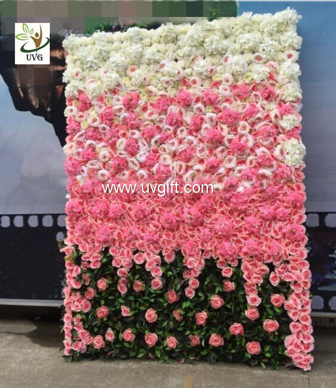 Uvg 6ft flower wall backdrop with white artificial rose and china uvg 6ft flower wall backdrop with white artificial rose and hydrangea for wedding decor supplier junglespirit Gallery