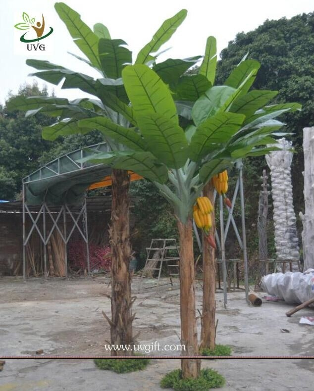 Uvg decorative fake plant artificial banana tree in for Artificial banana leaves decoration