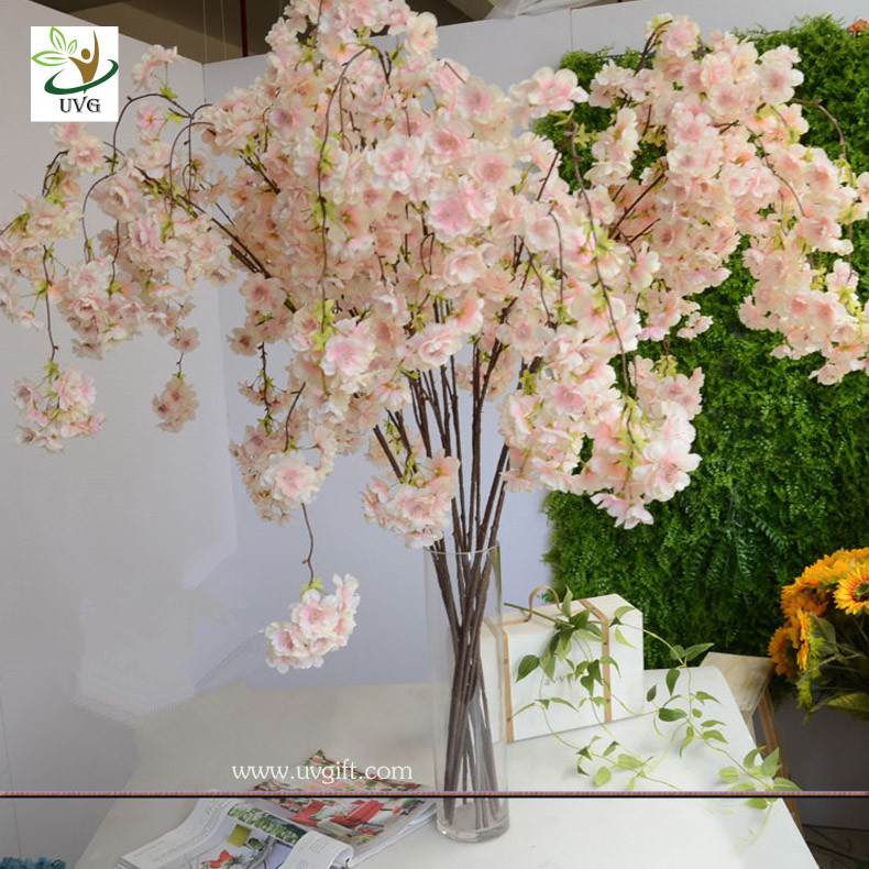 UVG CHR129 pink fake cherry blossom tree decorative branches for ...