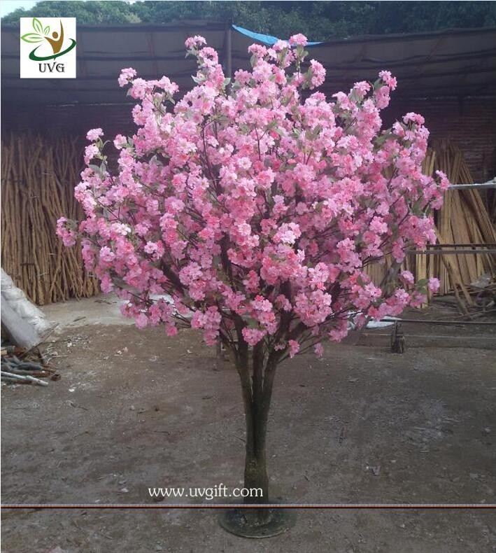 Uvg Chr134 Artificial Wedding Flowers With Wooden Fake Cherry Blossom Trees For Indoors