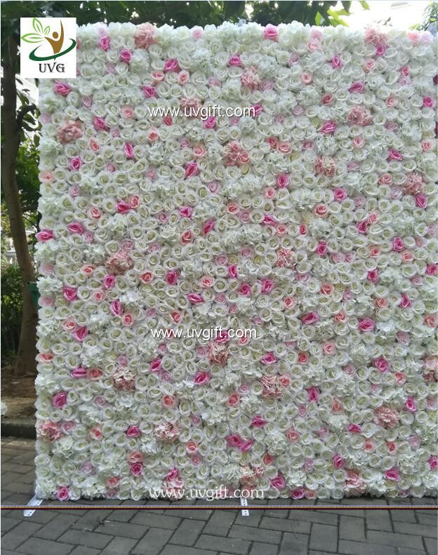 Uvg Chr1136 Diy Backdrop Wedding In Pink Artificial Rose
