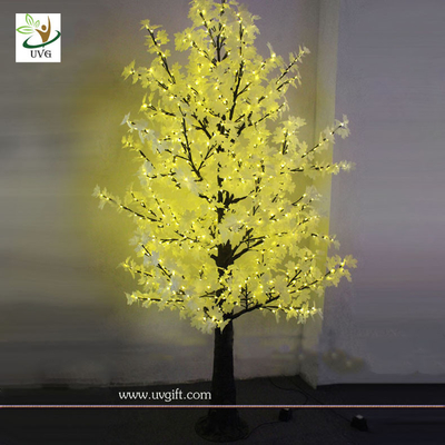 UVG Artificial Maple Tree Yellow LED lighting Decoration