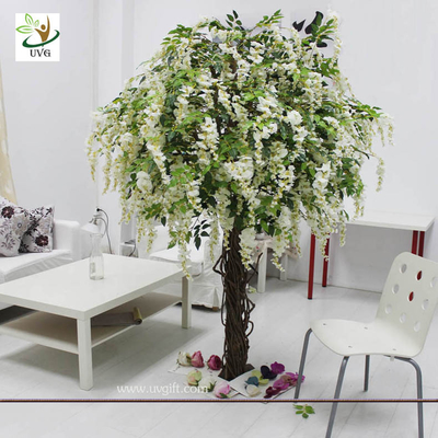 China UVG CHR047 Trees for Wedding white wisteria flowers home garden decoration factory