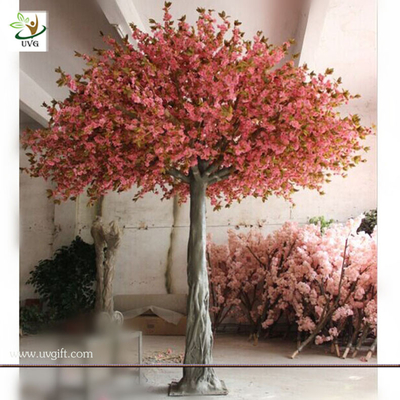 China UVG CHR034 Durable and Burly Silk Cherry Flower Factory Price Large Artificial Decorative factory