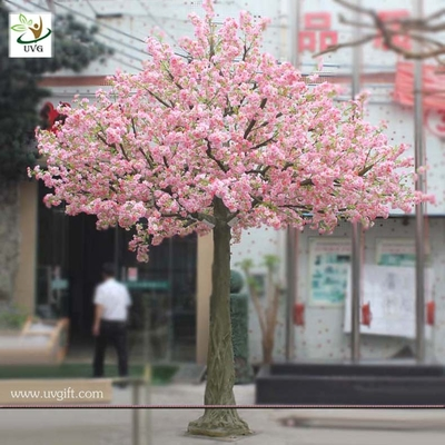 China UVG CHR017 Artificial Wishing Tree pink cherry flower trees for indoor decoration 12ft hig factory