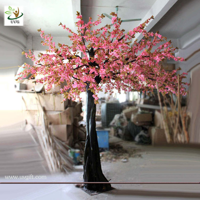 China UVG CHR029 Cheap Artificial Trees Pink cherry blossom for party decoration in Guangzhou factory