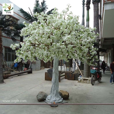China UVG home landsacping high simulation white cherry flower artificial tree for weddings CHR012 factory
