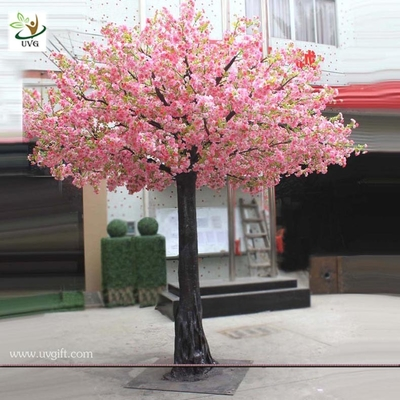 China UVG 3.5m tall artificial decorative trees with pink cherry blossoms for garden landscaping CHR028 factory