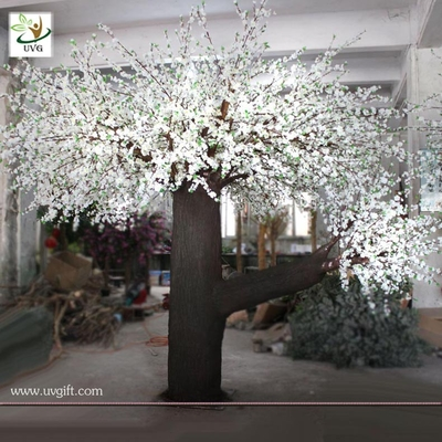 China UVG large artificial decorative tree white wedding trees with cherry flower for event planner CHR044 factory