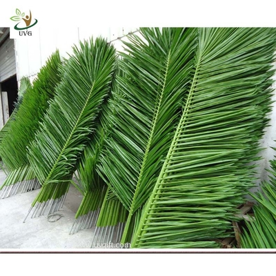 China UVG PTR010 Artificial Coconut Tree Leaves outdoor landscaping green plam factory